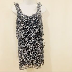 EUC Aqua White and Navy Dress Size XS